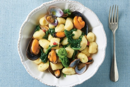 gnocchi and mussles